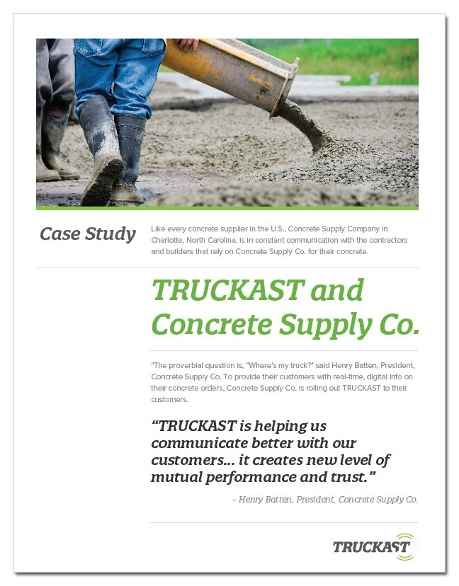 TRUCKAST Concrete Supply Case Study